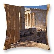 Acropolis Temple Throw Pillow