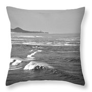 Across The Bay Bw Throw Pillow