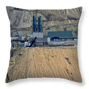 Across The Berkeley Pit Viewing  Throw Pillow
