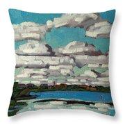 Across The Cataraqui Throw Pillow