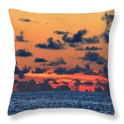 Across The Great Blue Waters Throw Pillow