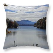 Across The Lake Throw Pillow