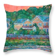 Across The Marsh At Pawleys Island       Throw Pillow by Kendall Kessler