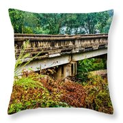 Across The Old Bridge Throw Pillow