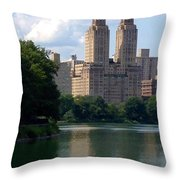 Across The Reservoir Throw Pillow