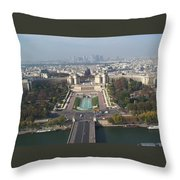 Across The Seine Throw Pillow