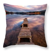 Across The Water Throw Pillow by John Farnan