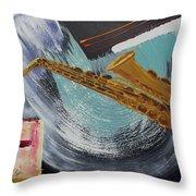 Acrylic Msc 036  Throw Pillow