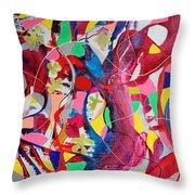 Acrylic Msc 042 Throw Pillow