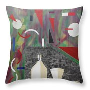 Acrylic Msc 157  Throw Pillow
