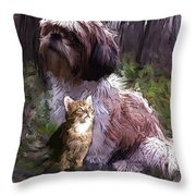 Act Attracts Throw Pillow