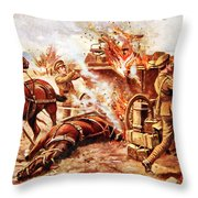 Acting-bombardier H.a. Creasey Throw Pillow