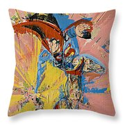 Action Abstraction No. 14 Throw Pillow