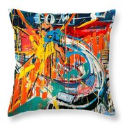 Action Abstraction No. 7 Throw Pillow