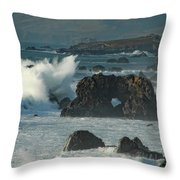 Action On The Rocks Throw Pillow