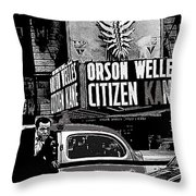 Actor Co-writer Director Orson Welles Premier  Citizen Kane Palace Theater New York  May 1 1941-2014 Throw Pillow