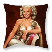 Actress Carole Landis Throw Pillow