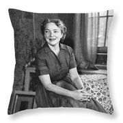 Actress Helen Hayes Throw Pillow