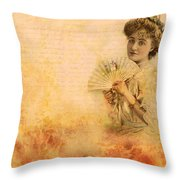 Actress In The Pink Vintage Collage Throw Pillow