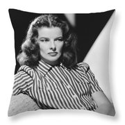 Actress Katharine Hepburn Throw Pillow