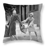 Actresses On Roller Skates Throw Pillow