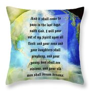 Acts 2 Verse 17 Throw Pillow