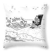 Actually It's Pleasure Throw Pillow