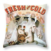 Ad Beer, C1877 Throw Pillow