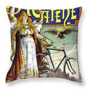 Ad Bicycles, 1898 Throw Pillow