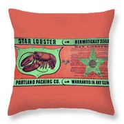 Ad Lobster, C1867 Throw Pillow