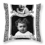 Ad Mellin's Baby Food Throw Pillow