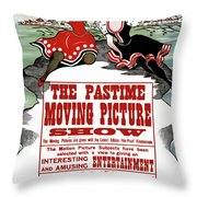 Ad Moving Picture, 1913 Throw Pillow