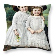 Ad: Patent Medicine, 1889 Throw Pillow