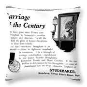 Ad Studebaker Carriages Throw Pillow