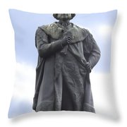 Adam Black Statue And Friend Throw Pillow by Mike McGlothlen