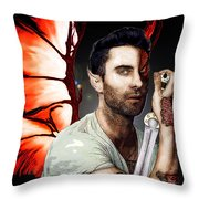 Adam Dragon Warrior Throw Pillow