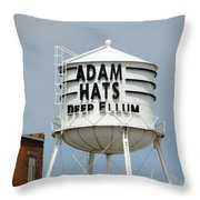 Adam Hats In Deep Ellum Throw Pillow