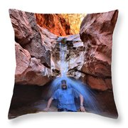 Adam Jewell At Capitol Reef Shower And Laundromat Throw Pillow by Adam Jewell