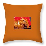 Adams Hotel Fire 1910 Phoenix Arizona 1910-2012 Throw Pillow