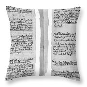 Adams Law Notes, 1770 Throw Pillow