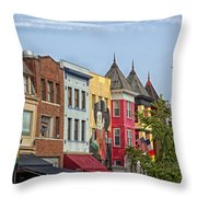 Adams Morgan Neighborhood In Washington D.c. Throw Pillow