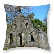 Adare Chapel Ruins Throw Pillow