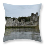 Adare Ireland Views Of Desmond Castle Throw Pillow