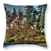 Addams Family Hotel Throw Pillow