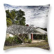 Adelaide River Railway Station Throw Pillow