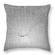 Adelaide Street Map - Adelaide Australia Road Map Art On Colored Throw Pillow