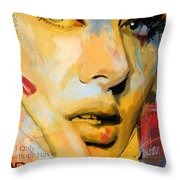 Adele Throw Pillow by Corporate Art Task Force
