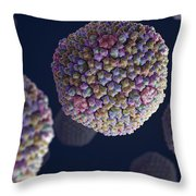 Adenovirus Throw Pillow