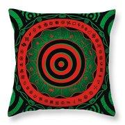 Adinkra Disk Pan-african II Throw Pillow
