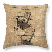 Adirondack Chair Patent Throw Pillow